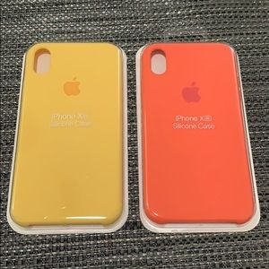 NEW iPhone Silicone Case for XR Yellow, Orange
